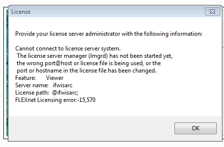 Flexnet license error