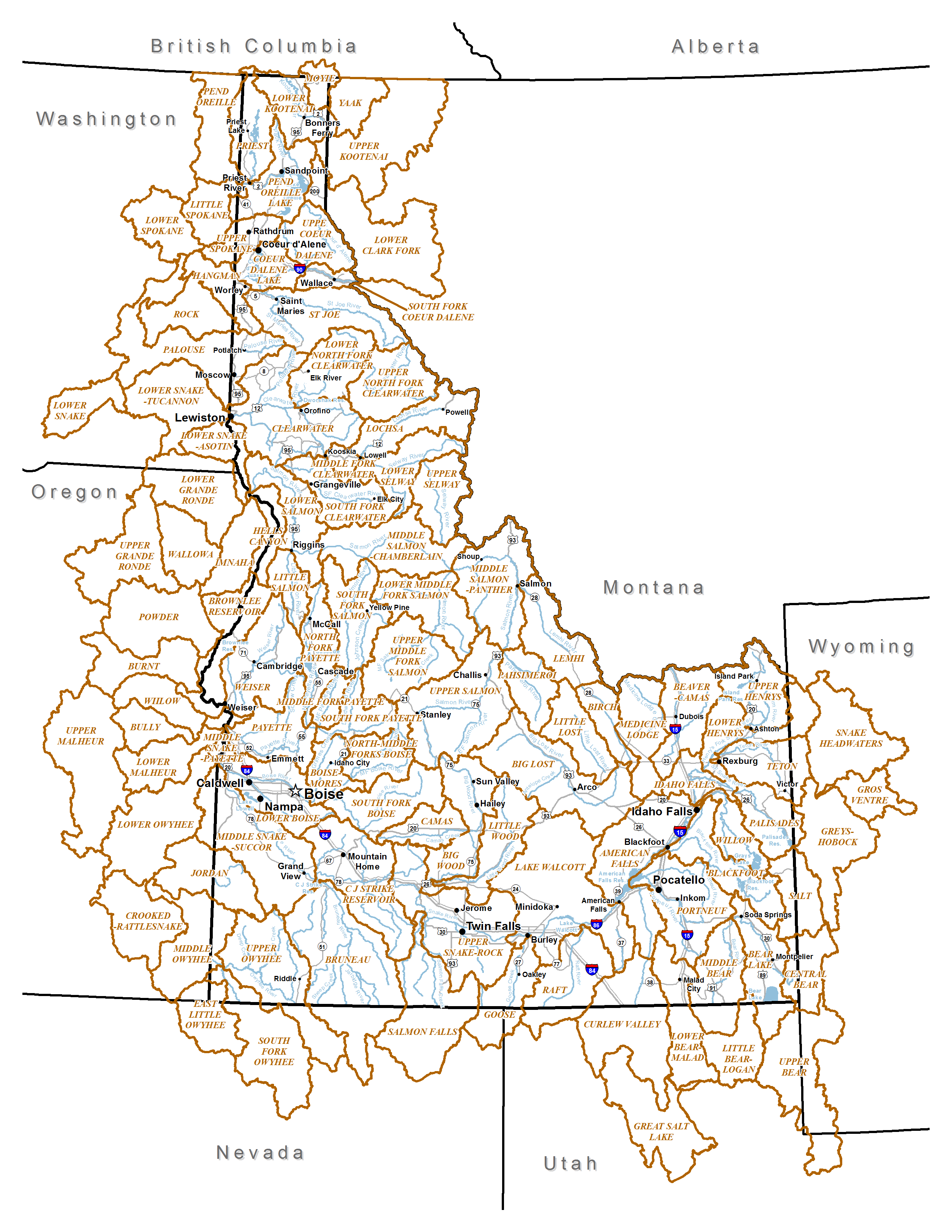 Watershed  Idaho Fish And Wildlife Information System